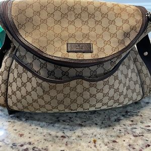 100 Authentic Canvas Gucci Diaper Bag